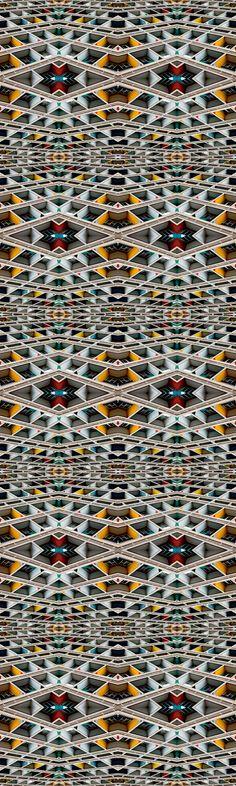 68 X 80 Kess InHouse Nandita Singh Pattern Play Stripes Rainbow Wall Tapestry