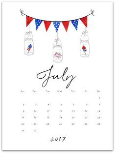 July Calendar Page (& June) - Mason Jar Crafts Love Calendar Doodles, Planner Doodles, Bullet Journal Titles, Bullet Journal Month, July Calendar, Calendar Pages, Calendar Ideas, Mason Jar Crafts, Mason Jars