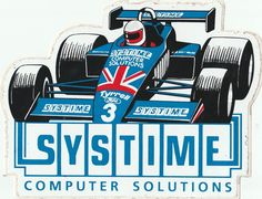 1984 SYSTIME SOLUTIONS TYRRELL FORD 012 BRUNDLE ORIGINAL PERIOD STICKER ADESIVO