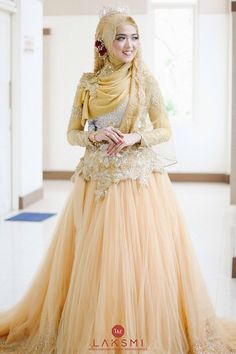 Muslim Wedding Gown, Hijabi Wedding, Kebaya Wedding, Muslimah Wedding Dress, Hijab Style Dress, Muslim Brides, Indian Gowns Dresses, Muslim Dress, Pakistani Bridal Dresses