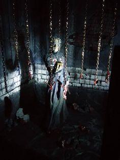 Hellraiser diorama by Dark Dio Studio Horror Action Figures, Halloween Diy, Sci Fi, Darth Vader, Studio, Dark, Crafts, Ideas, Dioramas