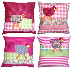 Picture only, no pattern - inspiration to make a chicken pillow Kids Pillows, Throw Pillows, Cute Cushions, Applique Pillows, Small Sewing Projects, Teen Room Decor, How To Make Pillows, Pillow Sale, Diy Arts And Crafts