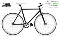 Bike preta e branca. http://www.colorbikes.com.br