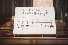 Personalised Wedding Timeline by WonderPrintBoutique on Etsy