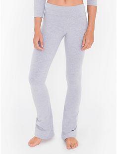 Pantalon de Yoga en Coton Jersey Extensible
