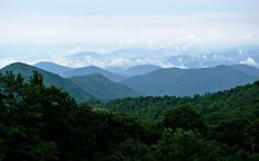 The Blue Ridge Mountains in Western NC