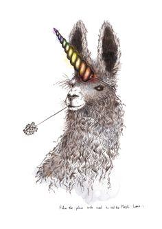#lama #illustration #sketch #magic  My magic lama!  Spéciale dédicace à MC  #lucy #inzesky