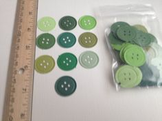 Handmade button paper punches  by PaperCraftingByMandy on Etsy, $3.50