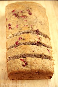 Whole Wheat Cranberry Banana Bread -- an easy recipe for a skinny, clean-eating treat...