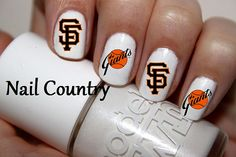 50pc San Francisco Giants Baseball Nail Decals Nail by NailCountry, $3.99