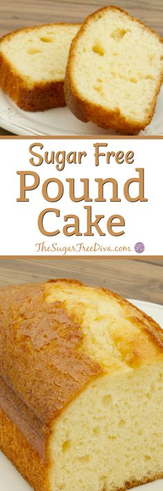 A favorite cake recipe for many. Pound cake only this dessert is sugar free and tastes yummy too! A favorite cake recipe for many. Pound cake only this dessert is sugar free and tastes yummy too! Sugar Free Deserts, Sugar Free Sweets, Sugar Free Recipes, Diabetic Friendly Desserts, Diabetic Snacks, Diabetic Recipes, Pre Diabetic, Diabetic Living, Healthy Recipes