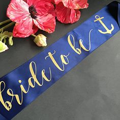 Nautical Bachelorette Party Sash Bride to Be in Navy Blue... https://www.amazon.com/dp/B01M2AI8QM/ref=cm_sw_r_pi_dp_x_7SEkyb5TPK6CE