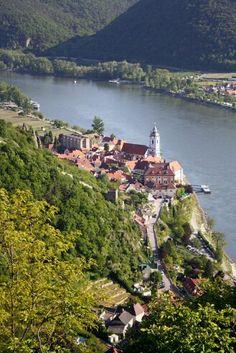 Dürnstein at Danube rive in Austria.