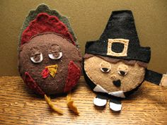 Pilgrim & Turkey bean bags! super cute
