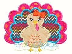 turkey-girl-applique