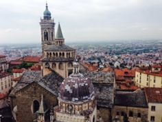 """Bergamo is a city of two cities, the """"Città Alta"""" (upper city) and the""""Città Bassa"""" (lower city). Only from Milan and a drive to. Slow Food, Walks, Paris Skyline, Milan, Cities, Hiking, Italy, Bike, Foods"""