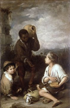 maryrobinette submitted to medievalpoc:  Three Boys c 1660 by Bartolome Esteban Murillo (1617 – 1682, Spanish)