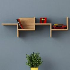 Features: All hardware included Product Type: Floating Shelf Number of Shelves: 4 Material: Manufactured Wood Material Details: Melamine-faced chipbo Wall Shelves Design, Wall Design, Shelf Wall, Diy Wall Decor, Bedroom Decor, Home Decor, Regal Design, Wall Bookshelves, Ceiling Design