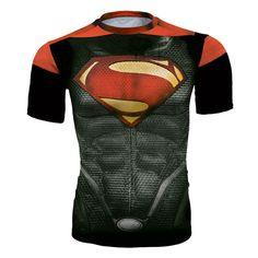Fashion Brand Bodybuilding tshirt 3D Printed Cosplay Costume Superman Compression Men/Women Superhero Crossfit