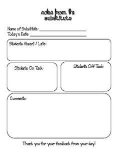 sub folder on pinterest substitute teacher newsletter templates and substitute folder. Black Bedroom Furniture Sets. Home Design Ideas