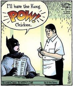 #Humor   Un excelente almuerzo a la Batman  -Intello