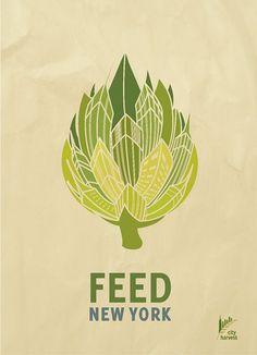 City Harvest& Feed New York Print Ads on Behance Logo Branding, Branding Design, Logo Design, Graphic Design, Charity Branding, Brewery Design, Beach Logo, Conceptual Drawing, Ad Design