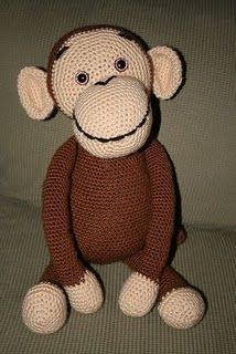 #crochet #amigurumi monkey - need to use google translate