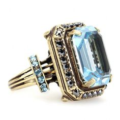 Lanvin Oversized Rhinestone Ring ($550) ❤ liked on Polyvore