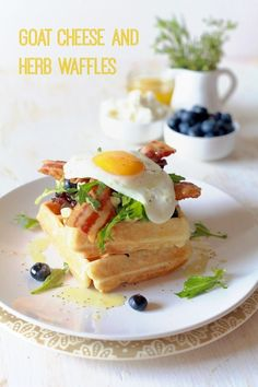 Goat Cheese and Herb Waffles | The Noshery