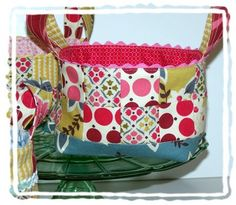 fabric basket with trim