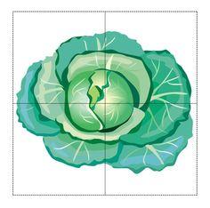 4 Piece Puzzle Patterns on Vegetables - Preschool Children Akctivitiys Rainbow Cartoon, Rainbow Fish, Alphabet Templates, Toddler Learning, Educational Toys, Diy For Kids, Plant Leaves, Preschool, Crafty