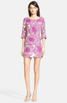 Free shipping and returns on Tracy Reese Chrysanthemum Print Jacquard Minidress at Nordstrom.com. Slightly flared elbow-length sleeves reinforce the retro appeal of a leggy linen-and-silk shift dress blooming in an eye-catching mum print. Mesh side insets create cooling ventilation as you boogie the night away.