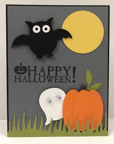 View Item: Halloween Punch Art Stampin Up Card kit (5 cards)