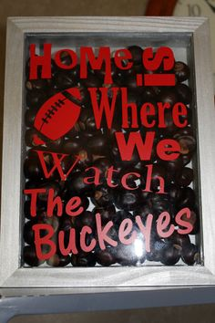 Ohio State Decor Home is Where We Watch The Buckeyes Shadow Box : ohio state decorating ideas - www.pureclipart.com