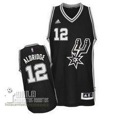 Camisetas Nba Baratas 2016 Swingman Aldridge #12 Negro San Antonio Spurs  €21.9