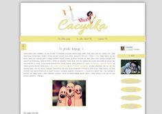 Hafija's Blogger Design: Cacynka - nowy look