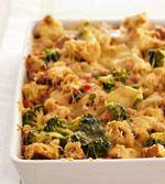 Broccoli, Cheddar and Ham Strata