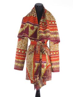 African Print Jacket Draped African Dutch Wax by tribalgroove, $120.00   Love this!!