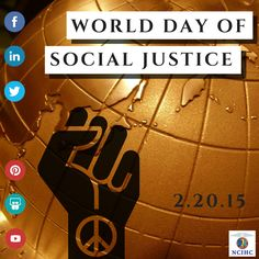 #WorldDayofSocialJustice is today!! Repin if you believe every person deserves equal rights and opportunities. World Days, Equal Rights, Social Justice, Equality, Evolution, Believe, Projects, Social Equality, Log Projects
