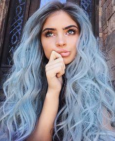 @assisjoanna6 Cabelo azul pastel
