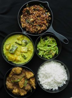 A homemade meal plan to indulge yourself in traditional Sri Lankan food. Kalupol chicken curry, creamy pumpkin curry, bean curry and banana flower stir-fry. Healthy Indian Recipes, Asian Recipes, Beef Recipes, Cooking Recipes, Ethnic Recipes, Sri Lankan Food, Sri Lankan Recipes, Carrot Curry, Pumpkin Curry