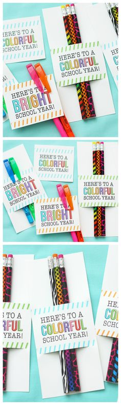 Here's To A Colorful School Year | Back to School Ideas