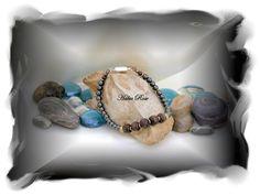 Wood Bead & Hematite