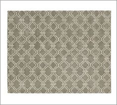 I love the geometric pattern in the neutral color.   Scroll Tile Rug - Gray #potterybarn