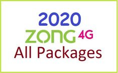 latest daily, weekly & monthly internet packages 2020  #zonginternetpackages #zong #internet #data #internetpackagescode 4g Internet, Internet Packages, Data, Packaging, Coding, Wrapping, Programming