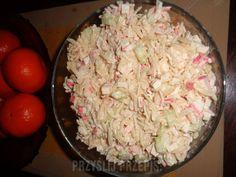 Sałatka krabowa Grains, Rice, Food, Essen, Meals, Seeds, Yemek, Laughter, Jim Rice