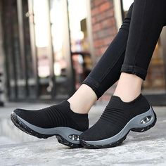 Women sneakers 2020 new breathable mesh sneakers women shoes convenient slip-on air cushion casual shoes woman tenis feminino (Discount 35 % ) Purple Shoes, Black Shoes, Casual Sneakers, Casual Shoes, Sneakers Women, Shoes Sneakers, Vans Women, Platform Sneakers, Chaussures Under Armour