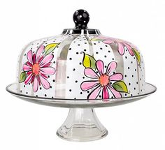 Daisy Domed Cake Stand -- Top off a sweet treat with a cake stand full of delicious colors.
