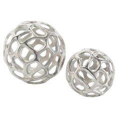 Silver Decorative Balls Geo Decorative Metal Balls  Julie And Tori's House  Pinterest