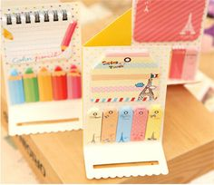 New kawaii Korean sticky note Cute office school home by JnMstudio -Those cakes/cupcakes are super cute!
